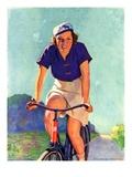 """""""Woman on a Bike """"April 28  1934"""