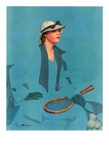 """Tennis in Blue ""June 16  1934"