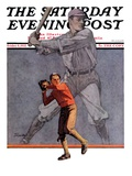 """Shadow Batter "" Saturday Evening Post Cover  October 8  1932"
