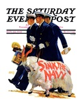 """Sink the Navy,"" Saturday Evening Post Cover, November 30, 1935 Giclée par Albert W. Hampson"