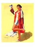 """Woman in Beach Outfit ""August 11  1934"