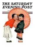 """Japanese Kiss "" Saturday Evening Post Cover  January 16  1926"