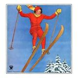 """""""Woman Ski Jumper """"January 1  1934"""