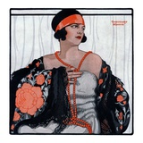 """Flapper in Shawl and Beads ""January 19  1924"