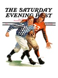 """But Ref! "" Saturday Evening Post Cover  October 22  1938"