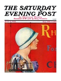 """Billboard Painters "" Saturday Evening Post Cover  July 9  1932"