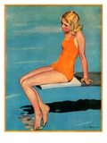"""""""Sitting on the Diving Board,""""August 19, 1933 Giclée par Penrhyn Stanlaws"""