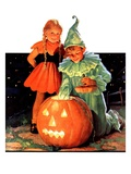"""Lighting the Pumpkin ""November 3  1934"