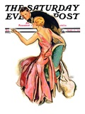 """Engaged Couple "" Saturday Evening Post Cover  May 17  1930"