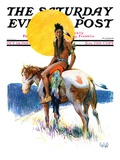 """Painted Pony "" Saturday Evening Post Cover  October 24  1931"