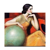"""Woman and Globe ""May 12  1934"