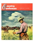 """""""Herding Cattle """" Country Gentleman Cover  January 1  1942"""