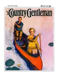 """Couple Paddling Caone "" Country Gentleman Cover  August 1  1929"