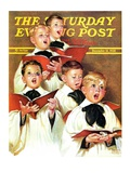 """Choir Boys Will Be Boys "" Saturday Evening Post Cover  December 10  1938"