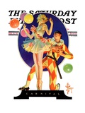 """Carnival "" Saturday Evening Post Cover  February 25  1933"