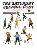 """Home Run "" Saturday Evening Post Cover  April 26  1930"