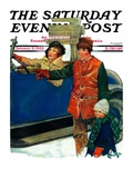 """Asking Directions "" Saturday Evening Post Cover  January 9  1932"