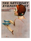 """Cup of Java "" Saturday Evening Post Cover  April 30  1932"