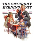 """Tea for Grandpa "" Saturday Evening Post Cover  February 18  1933"