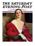 """An Evening Out "" Saturday Evening Post Cover  October 10  1931"