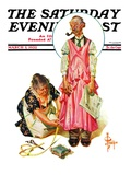 &quot;Living Mannequin &quot; Saturday Evening Post Cover  March 5  1932