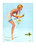 """Girl and Water Lilies ""September 7  1935"