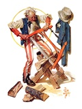 """Uncle Sam Sawing Wood ""July 2  1932"