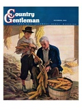 """Drying Field Corn "" Country Gentleman Cover  November 1  1944"
