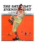 """The Windup "" Saturday Evening Post Cover  August 18  1934"