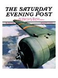 """Propeller "" Saturday Evening Post Cover  August 7  1937"