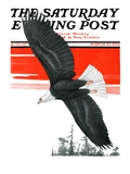 """Soaring Eagle "" Saturday Evening Post Cover  March 22  1924"