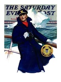 """Coast Guard "" Saturday Evening Post Cover  February 11  1933"