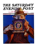 """Box Camera "" Saturday Evening Post Cover  March 4  1933"