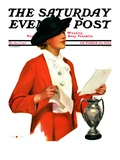 """And the Winner Is "" Saturday Evening Post Cover  October 25  1936"