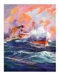 """Wave Breaks over Steamer ""March 21  1936"