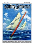"""""""Sailboat Race """" Country Gentleman Cover  July 1  1928"""