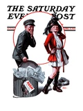 """Playing Dress-Up "" Saturday Evening Post Cover  April 12  1924"