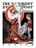 """Medieval Easter "" Saturday Evening Post Cover  April 19  1924"