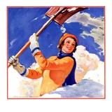 """Woman Shoveling Snow ""February 1  1935"
