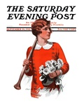 """Oars and Flowers "" Saturday Evening Post Cover  September 26  1925"
