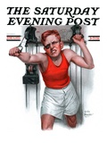 """Readying for Rematch "" Saturday Evening Post Cover  June 9  1923"