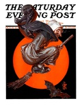 """Witches Night Out "" Saturday Evening Post Cover  October 27  1923"