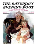 """Radio Days "" Saturday Evening Post Cover  February 22  1930"