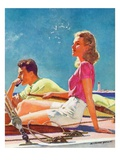 """""""Couple on Sailboat """"August 1  1939"""