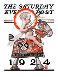 """Sir Baby New Year "" Saturday Evening Post Cover  December 29  1923"
