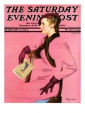 """At the Fashion Show "" Saturday Evening Post Cover  February 3  1934"