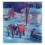 """Christmas Carollers ""December 1  1945"