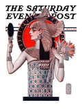 """Egyptian Queen "" Saturday Evening Post Cover  October 6  1923"