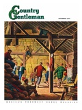"""Square Dance in the Barn "" Country Gentleman Cover  November 1  1947"