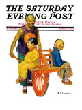"""Chinese Family "" Saturday Evening Post Cover  April 2  1927"